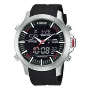 Klokkerem Lorus Z021-X002-RW607AX9 Gummi Svart 21mm