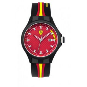 Klokkerem Ferrari SF-01-1-47-0003 / SF689300008 / 0830009 Silikon Svart 22mm