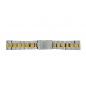 Klokkerem WoW 1014-20-BI Stål Bi-farge 20mm