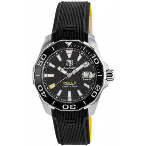 Klokkerem Tag Heuer WAY211A / FT6068 Gummi Svart 21mm