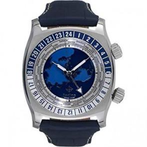 Klokkerem Zodiac ZO7000 Lær Blå 26mm