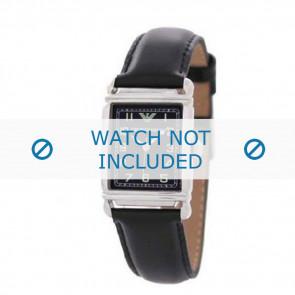 Klokkerem Armani AR0207 / AR0101 / AR0121 / AR5601 / AR0604 Lær Svart 18mm