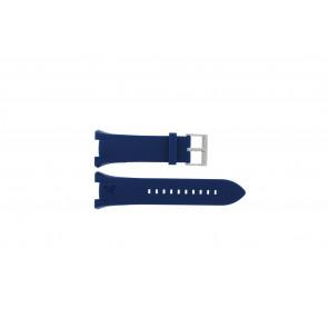 Armani klokkerem AX-1041 Gummi Blå lett 21mm
