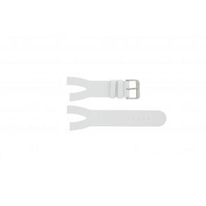 Davis klokkerem BB1401 Lær Hvit 30mm