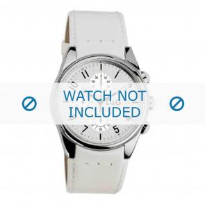 Dolce & Gabbana klokkerem 3719770084 Lær Hvit 20mm + søm hvit