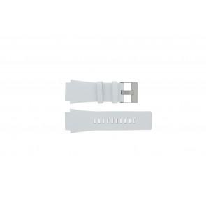 Diesel klokkerem DZ1449 Lær Hvit 25mm