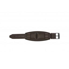 Fossil klokkerem JR1365 Lær Brun mørk 22mm