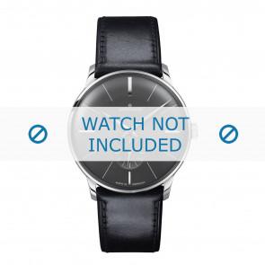 Junghans klokkerem 027/3503.00 Lær Svart 20mm + standard sømmer