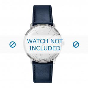 Junghans klokkerem 041/4464.00 Lær Blå 20mm + standard sømmer