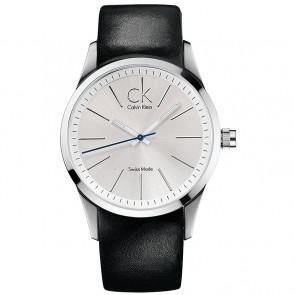 Klokkerem Calvin Klein K2241126 Lær Svart