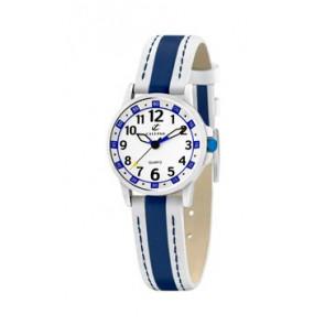 Klokkerem Calypso k5212-1 Lær Blå