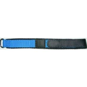 Klokkerem Universell KLITTENBAND 412R Licht Blauw Borrelås Blå 14mm