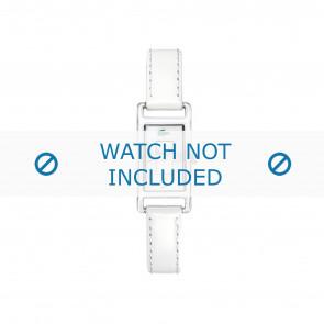 Lacoste klokkerem 2000367 / LC-05-3-19-0066 Lær Hvit 12mm + søm hvit