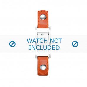 Lacoste klokkerem 2000385 / LC-05-3-14-0009 Lær Oransje 12mm + søm hvit