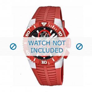 Lotus style klokkerem 15778.2 Gummi / plast Rød
