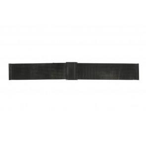 Klokkerem WoW MESH-22.1.5BL Stål Svart 22mm