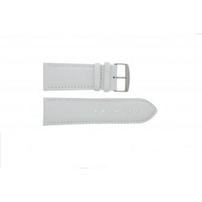 klokkerem i ekte lær hvit 32mm