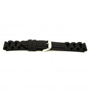 Klokkerem Gummi 24mm Svart EX K63 26 1 24