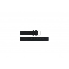 Klokkerem 21901.01.18 / 6826 Silikon Svart 18mm